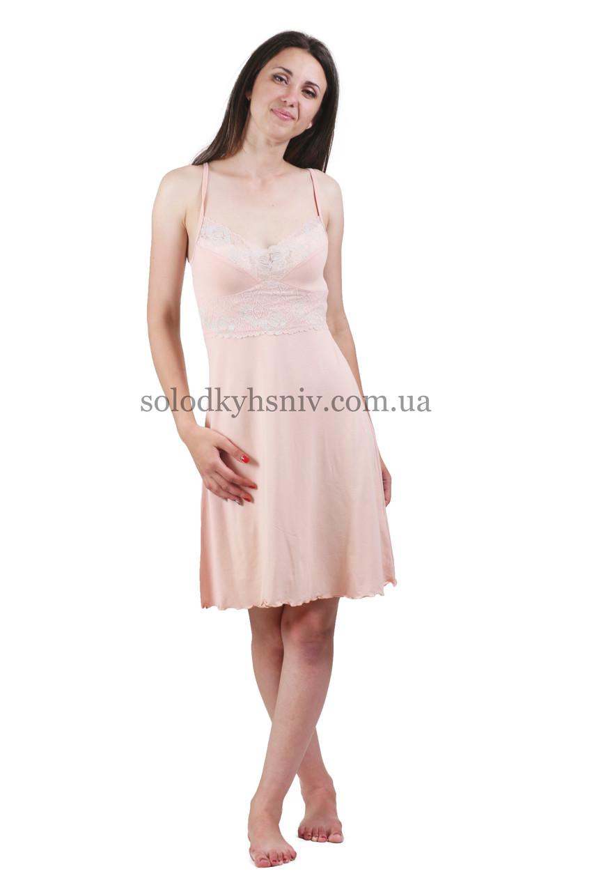 Сорочка жіноча віскоза Ніжний Персик NEL 790  продажа 80ceca013ecc2