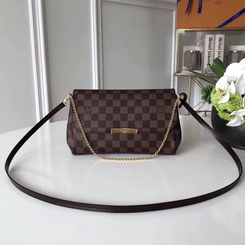 1ac62187eab4 Женский клатч Louis Vuitton Favorite, Damier Ebene, цена 5 400 грн ...