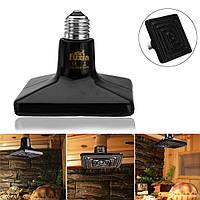 25/50/75/100/150 / 250W E27 Черный Керамический Тепловой излучатель Рептилия Pet Bulb Crawling Light AC220V