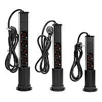 Настольная Pop Up Power Разъем Выход 3/4/5 EU Plug Power Strip Домашний офис Power Outlet с USB