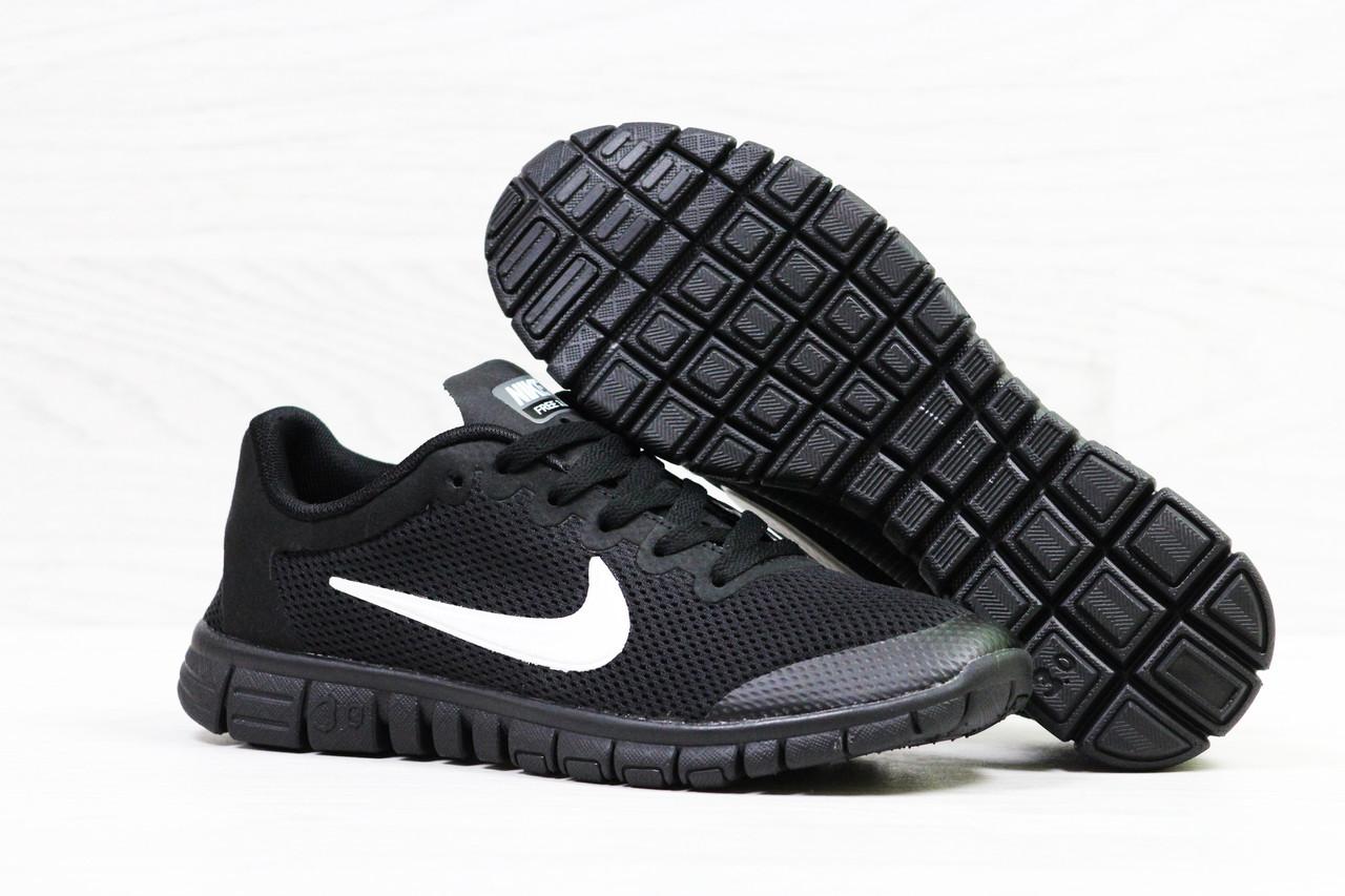 Кроссовки мужские Nike черные c белым (Реплика ААА+) - bonny-style в 5a65e91cc576a