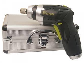 Отвертка аккумуляторная TITAN PAO3,6Lit-on с фонариком и набором бит