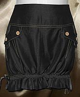 Стильная женская юбка с драпировкой.