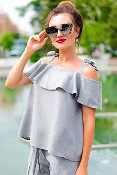 Стильные летние блузки АРИЗОНА, серый