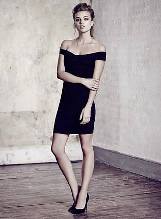 Короткое облегающее платье с открытыми плечами Miss Selfridge, фото 2