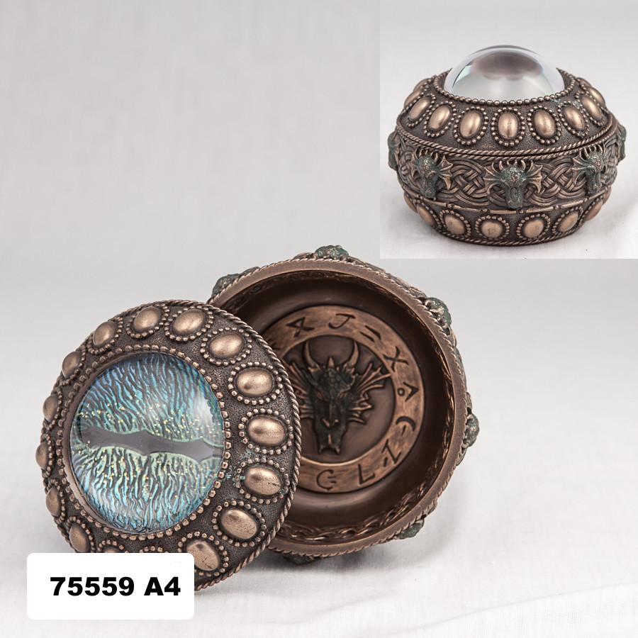 Шкатулка Глаз дракона (10 см) 75559 A4 Veronese Италия
