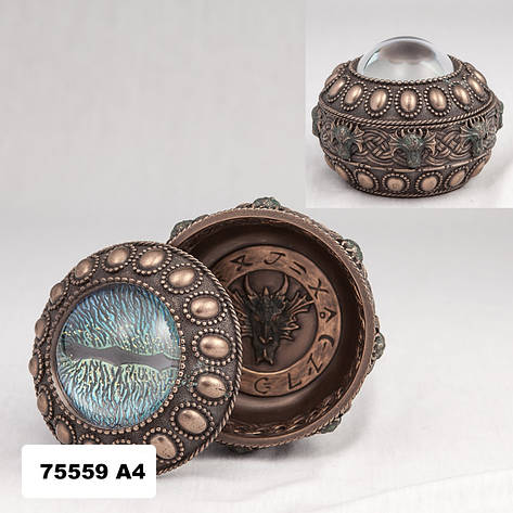 Шкатулка Глаз дракона (10 см) 75559 A4 Veronese Италия, фото 2