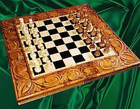 Шахматы - нарды резные ручной работы