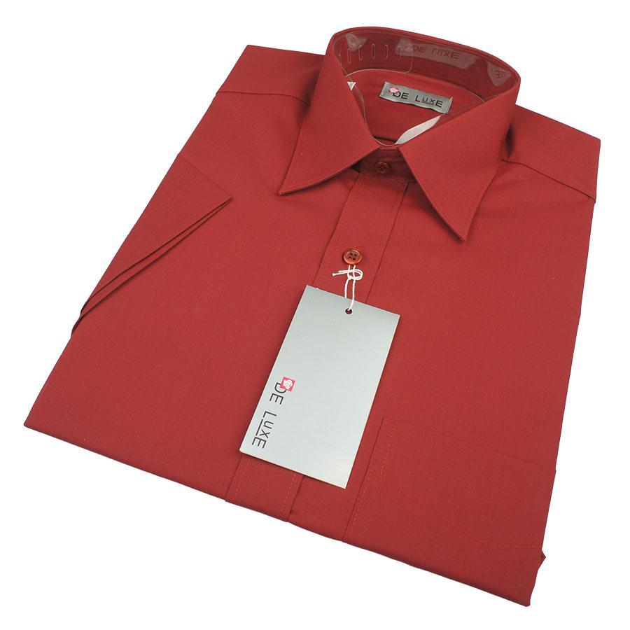Класична бордова сорочка De Luxe 211AК для чоловіків (великий розмір)