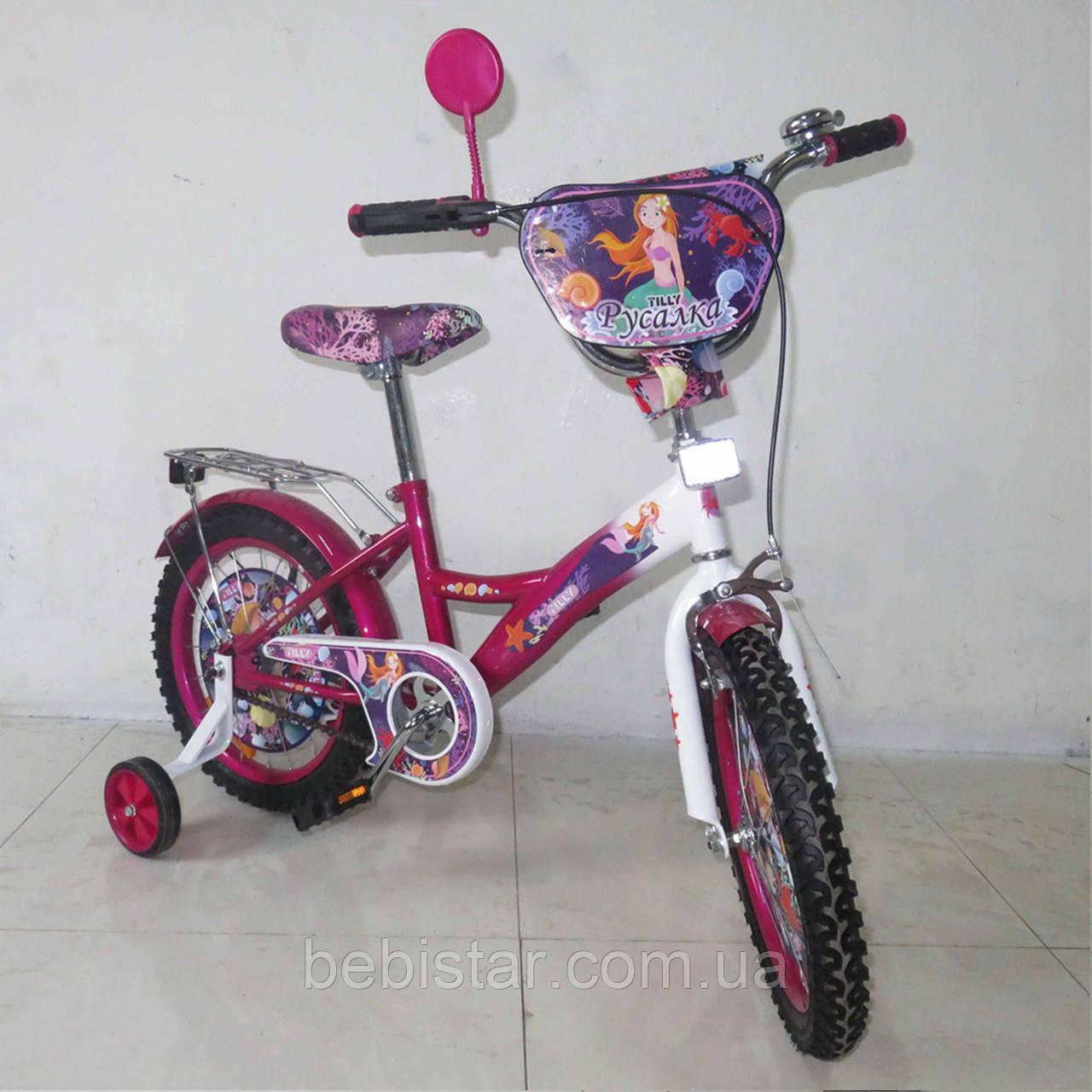 """Детский двухколесный велосипед TILLY 16"""" 16Т-216210 для деток 4-6 лет, фиолетовый"""