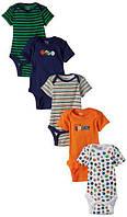 Детские боди для мальчика (5 шт)  3-6 месяцев