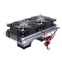 Бесколлекторный 12V Холодильное холодильное оборудование для компьютеров DIY Система с двумя сердечниками