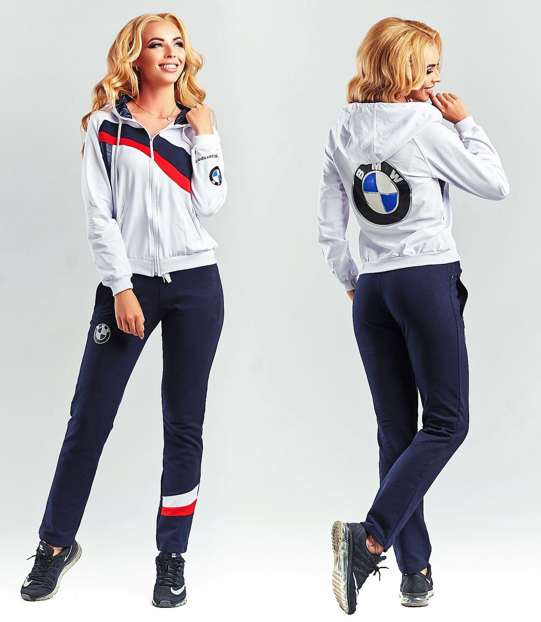 """Женский стильный спортивный костюм 112-1 """"BMW"""""""