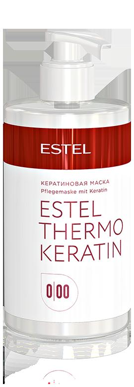 Кератинова маска для волосся, Estel ThermoKeratin 0/00, об`єм: 435 мл.