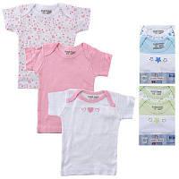 Детские футболки для девочки (набор 3 шт)   6-9, 24 месяца