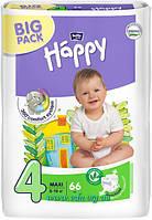 Подгузники Bella Happy (4) макси (8-18кг) 66шт