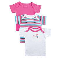 Детские футболки для девочки (набор 3 шт)   18, 24 месяца