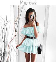 Платье тройной волан пышное 42 44 46 48 50 Р, фото 1