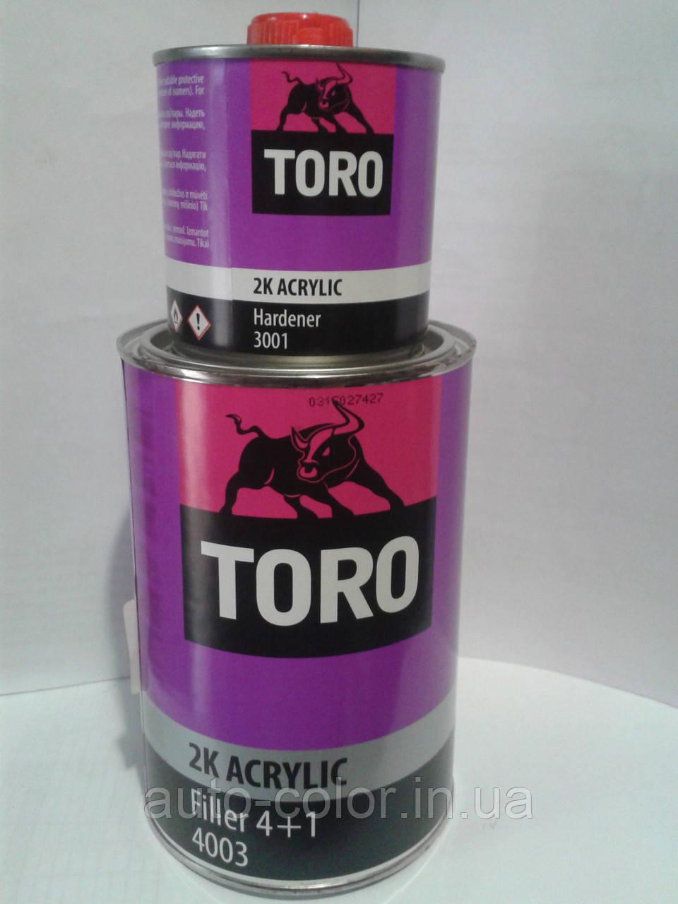 Грунт TORO 4003 2К 4:1, 0,75 л.+0,188 л. комплект