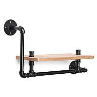 Винтаж Промышленная труба Деревянный плавающий кронштейн для полки Винтаж Укладчик для хранения настенных шкафов