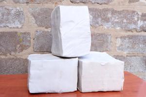 Белая глина для скульптурной лепки 20 кг - керамическая масса