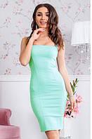 Летнее приталенное платье на брителях Анталия 42 44 46 48 50 Р, фото 1