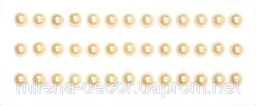 Полужемчужинки клеевые 6 мм персиковые (39шт.)