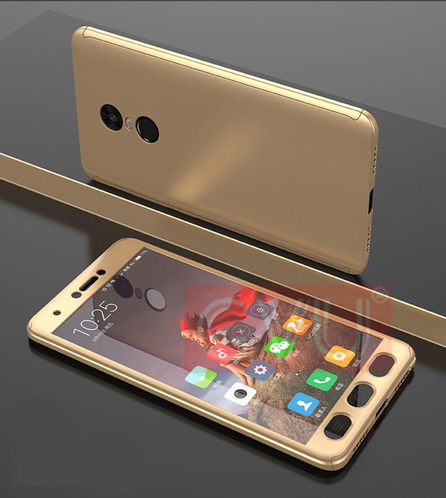 Чехол DualHard 360 для Xiaomi Redmi Note 4X / Note 4 Global Version бампер + стекло в подарок Gold