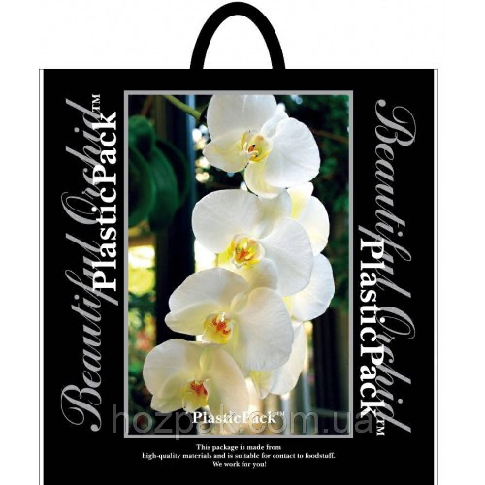 """Пакет плотный с петлевой ручкой """"Орхидея"""" 47х49 см. 25шт."""