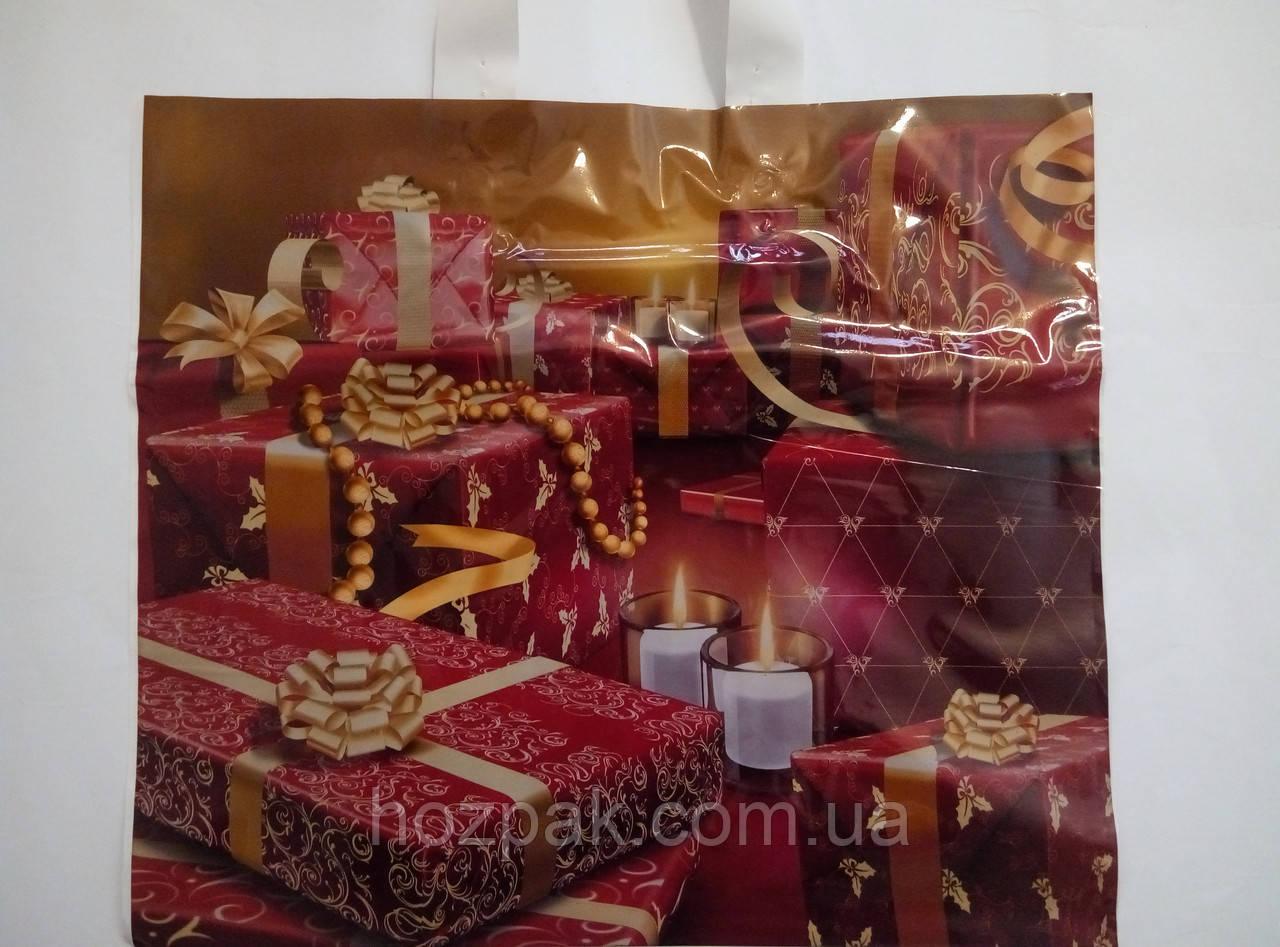"""Пакет с петлевой ручкой ламинированный """"Подарок"""" 36х31см. 25шт."""