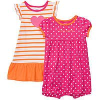 Детский летний комплект для девочки (песочник и платье)  12 месяцев