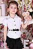 Блузка белая для девочек