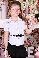 Блузка белая для девочек, фото 1