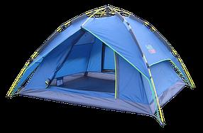 Автоматическая Палатка Green Camp 1831 3-х местная. 2-х слойная. С козырьком