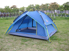 Автоматическая Палатка Green Camp 1831 3-х местная. 2-х слойная. С козырьком, фото 2