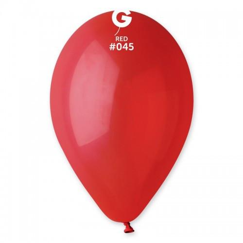 Кулька повітряний 10 дюймів (25 см) пастель ЧЕРВОНИЙ