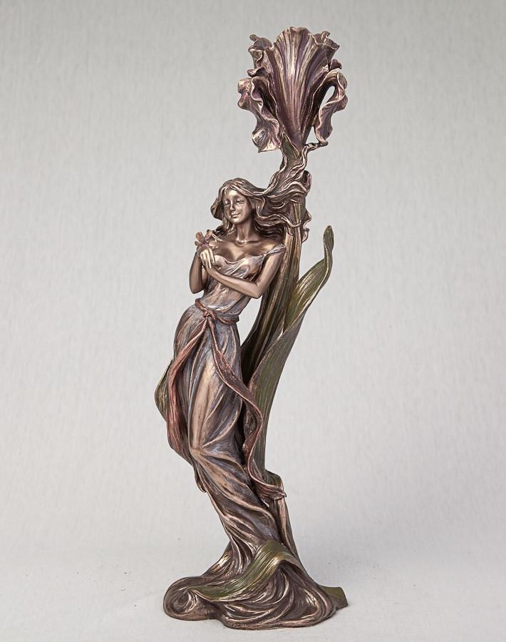 Подсвечник Девушка с бабочкой (36 см)Veronese Италия 10280A4
