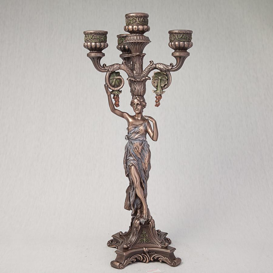 Подсвечник Античная девушка Veronese Италия (38 см) 75244 A4