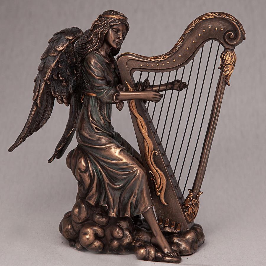 Статуэтка Ангел с арфой Veronese (20 см) 70494 A4 Италия