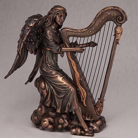 Статуэтка Ангел с арфой Veronese (20 см) 70494 A4 Италия, фото 2