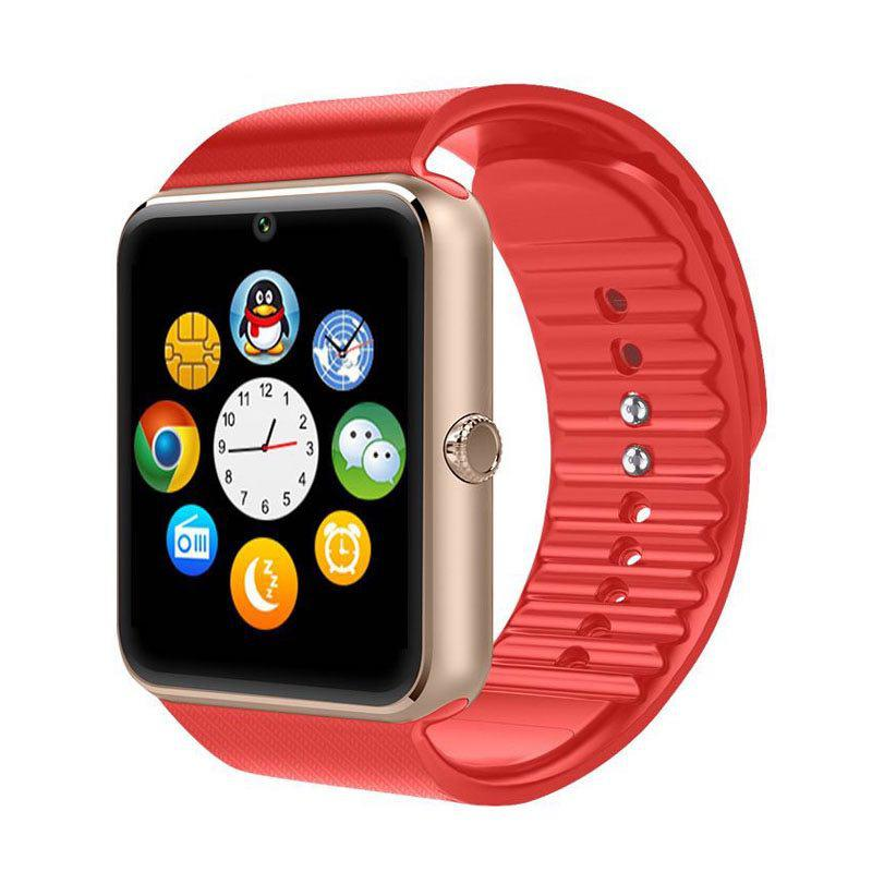 Умные часы Smart Watch GT08 Gold/Red (SWGT08GR)