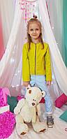 Куртка кожзам стеганый для девочки р.116-140 фисташковый (2068)