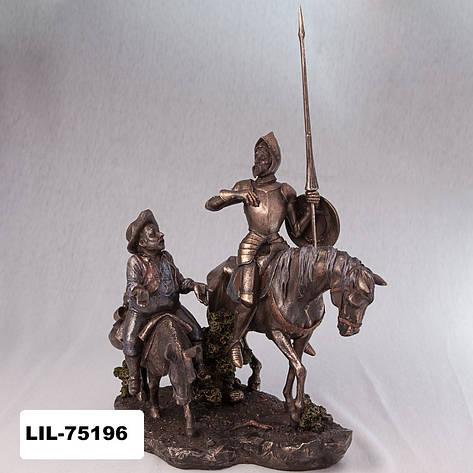 Статуэтка Дон Кихот и Санчо Панса Veronese Италия  (31 см) 75196 A4, фото 2