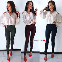 Женские лосины из стрейч джинса, в расцветках. БЛ-16-0618
