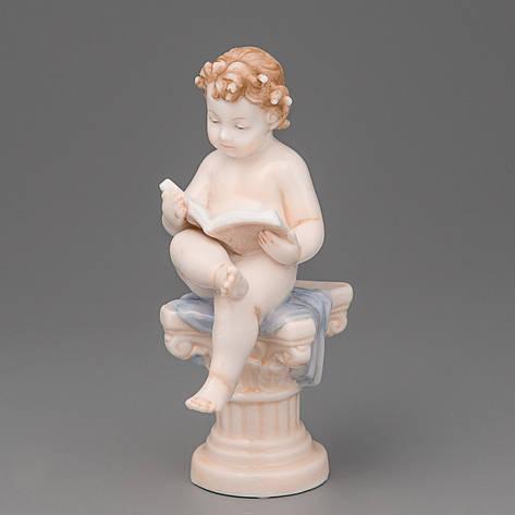 "Статуэтка ""Ангелочек с книгой"" Veronese Италия (12 см) 30023 AA, фото 2"