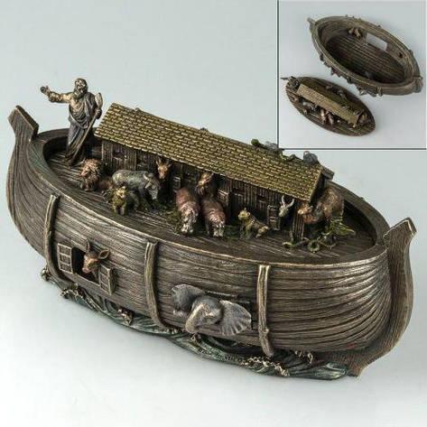 Статуэтка-шкатулка Ноев ковчег 76675A4 (25*13 см) Veronese Италия, фото 2