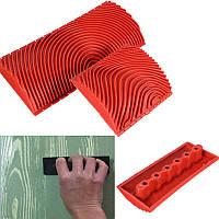 2Pcs Крупная и мелкая древесина Зернистость Инструмент DIY Настенные покрытия для пола Эффекты Древесная зерновая резина