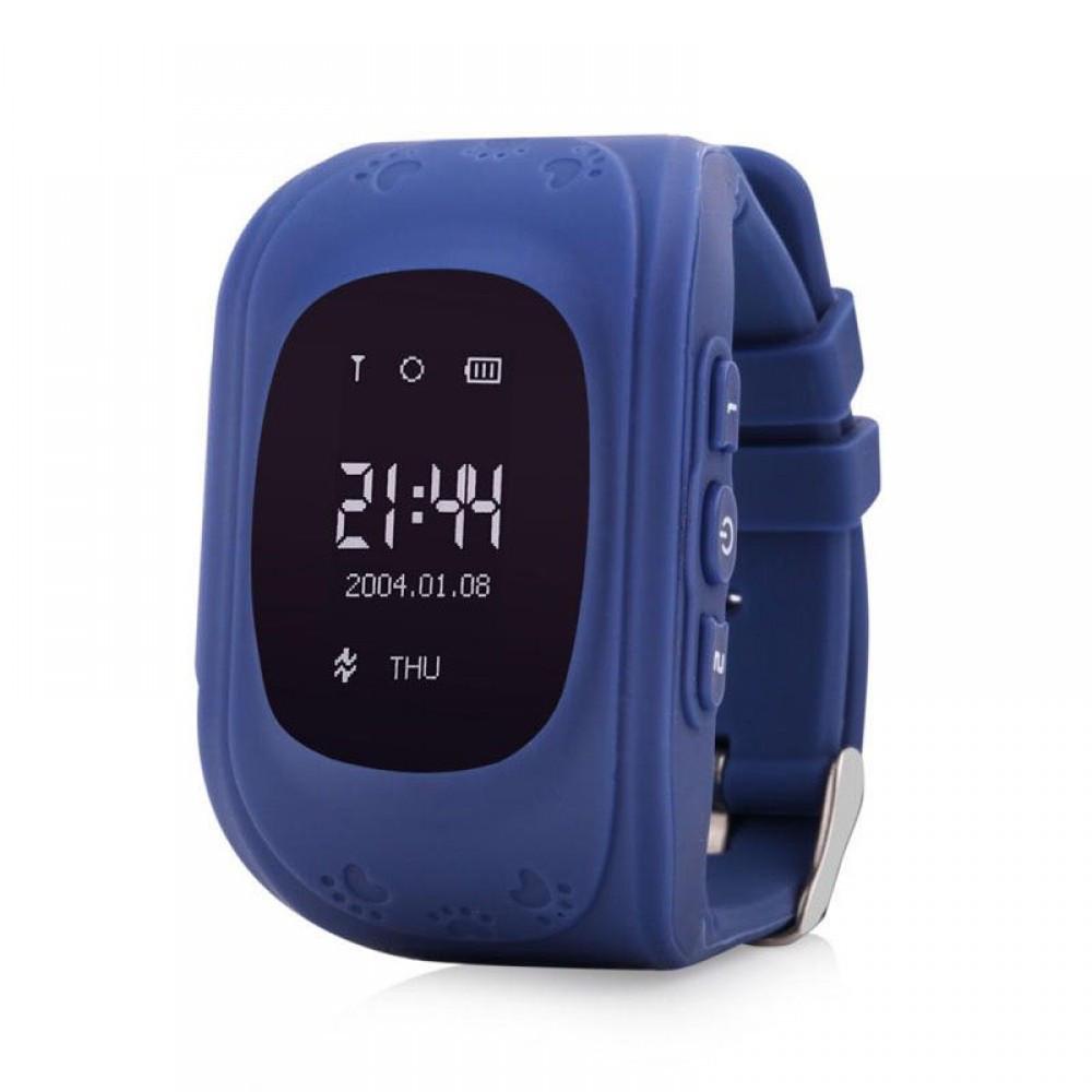 Детские смарт-часы Q50 с GPS Темно-Синие (11793)