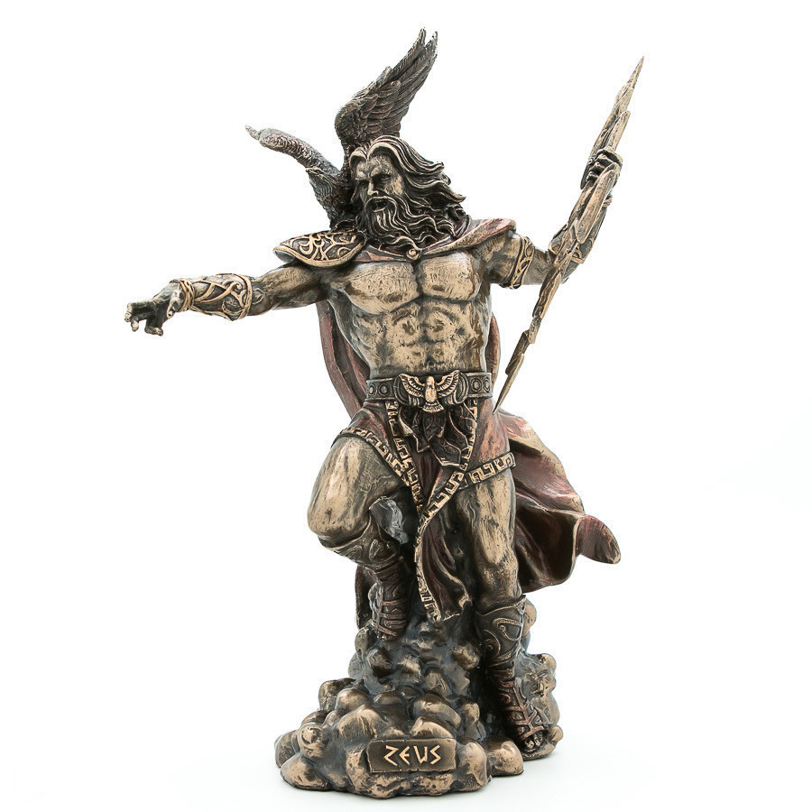 Статуэтка Зевс-громовержец (29 см) Veronese Италия 76927A4