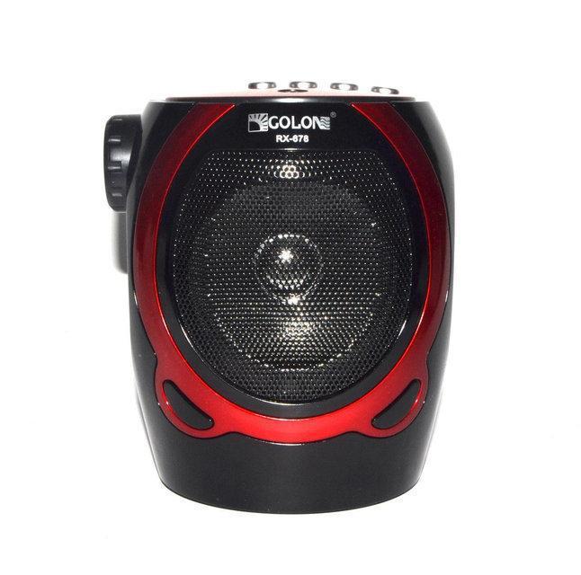 Портативная колонка-радио караоке Golon RX-678 Черно-красная (sp3021)